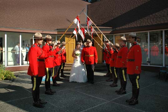 RCMP wedding party